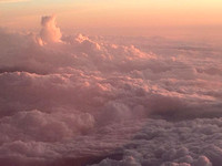 Sunset on Flight from Nashville to Chicago 5-27-15